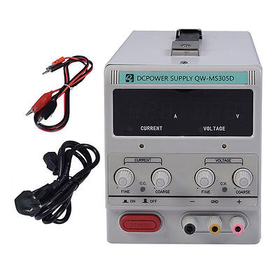 DC Power Supply 30V 5A Variable Precision Adjustable Digital Lab QW-MS305D