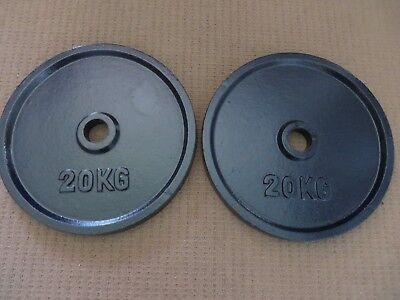 Weight Plate - 20 Kg Olympic X 2 - Brand New