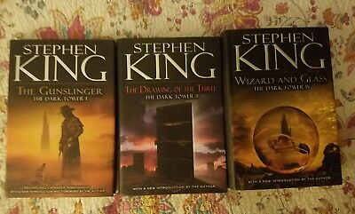 The Dark Tower books 1, 2 and 4 Hardcover Stephen King (out of print and rare)