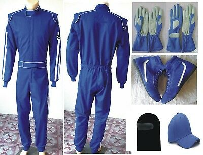Full Set Nomex Racing Double Layer Suit SFI 3.2A/5 Free Cap