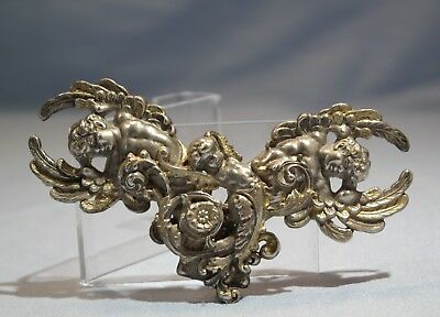 Continental Europe Silver-Gilt Plated Cherubs/Angels Motif Belt Buckle 20th C.