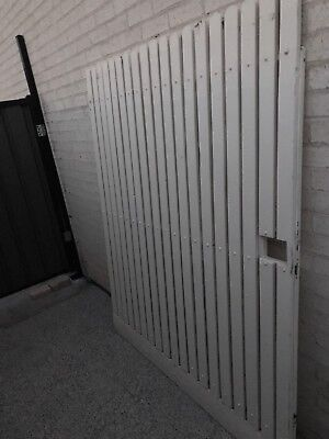 Metal Solid Gate Frame Cream Picket Fence Large Wide 162x195cmH Spare Gates X1