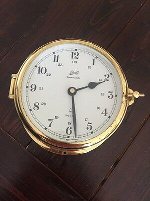 Lchatz Ocean Quartz Brass Antique Clock Maritime Boat Ship Sea