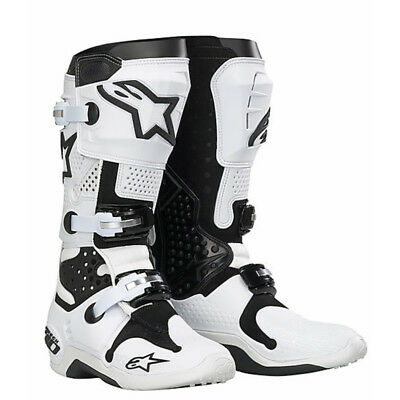 Stivali Moto  Alpinestars Tech 10 cross enduro 20100721 Bianco