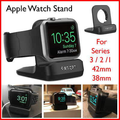 Charging Station Dock Stand Charger for Apple Watch 1 2 3 iWatch 38mm 42mm Black