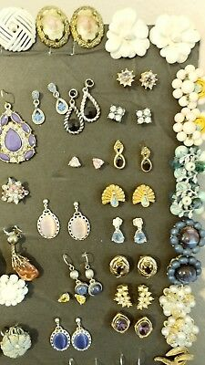 Large LOT of VINTAGE ANTIQUE Earrings Costume Jewelry