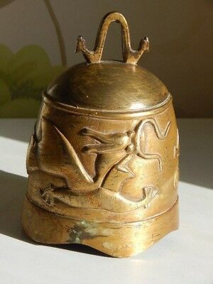 Old Chinese gilt-bronze dragon bell
