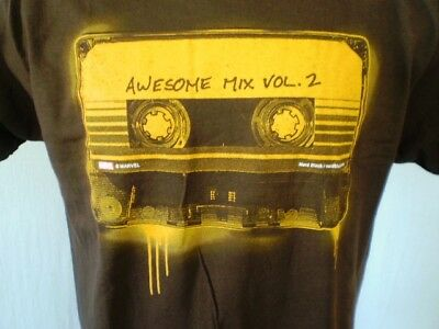 Nerd Block Brown Large T-Shirt Guardians of The Galaxy Vol. 2 NWT Cotton