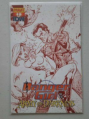 Danger Girl And The Army Of Darkness #1 Ri Dangerous Red Cover