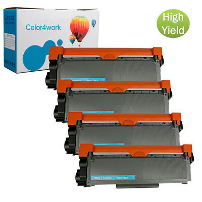 4PK TN660 High Yield Black INK For Brother DCP-L2540DW L2520DW Toner Cartridge