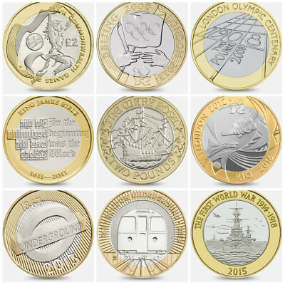 Cheapest £2 Coins Rare 2 Two Pounds Commonwealth Olympics Great Fire Of London