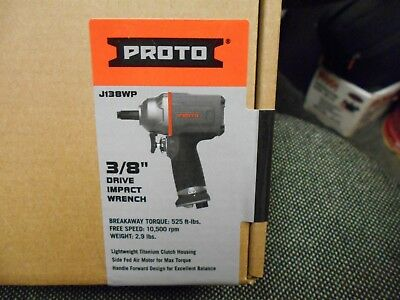 Proto J138WP 3/8-Inch Square Drive Pistol Grip Air Impact Wrench