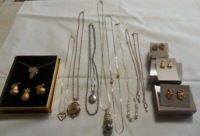 Lot Of Vintage Jewelry~ Avon & Unknown~ Necklaces, Pins, Earrings,   A10