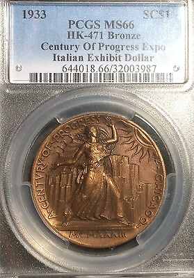 1933 Century of Progress Expo (Chicago) Italian Exhibit HK-471 SC$1 PCGS MS66