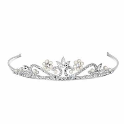 Simply Beautiful Childs Flower Pearls and Crystals Tiara.