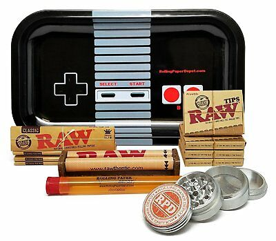 Raw King Size Cigarette Rolling Papers (4 Packs), RAW Pre-Rolled Tips & MORE