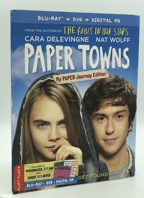 Paper Towns (Blu-ray+DVD+Digital, 2015; My Paper Journey Ed.) NEW w/ Slipcover