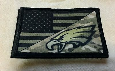 Subdued Philadelphia Eagles USA Flag Morale Patch Tactical Military Army