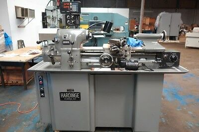 Hardinge HLV-H Super Precision Tool Room Lathe Sony 2 Axis Digital Read Outs