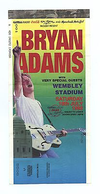 Bryan Adams Ticket Stub 1992 Jul 18 Wembley Stadium London UK
