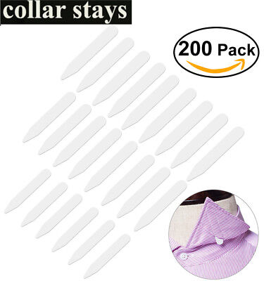 200pcs Set Plastic Metal Mens Shirt Collar Stays bones With Magnets Plastic