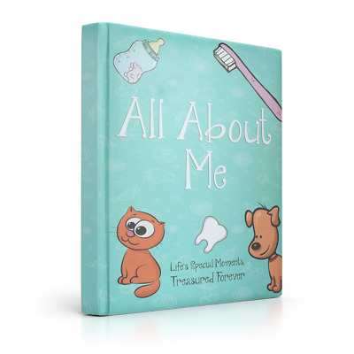 Baby Memory Book, Journal, Scrapbook & Photo Album for Boys & Girls by Moonglade