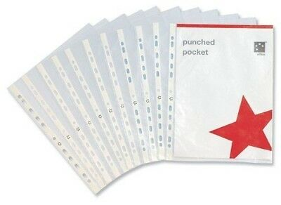 Five Star 5 Star Punched Pocket A4 Clear (Pk-100) 2 packs