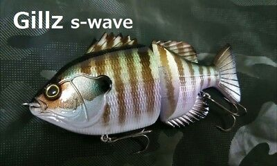 Kurouto Lures 'Gillz140' (5.6in) gill, S-wave, handmade big bait