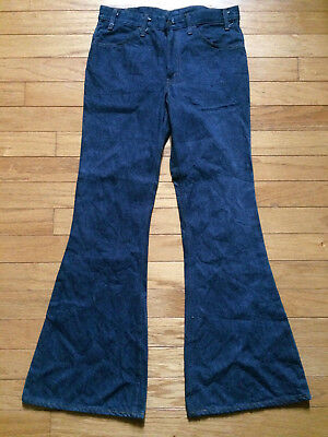 VINTAGE LEVI'S 1970's BELL BOTTOM HIPPY JEANS SIZE 34X34 ORANGE TAB ORIGINAL!