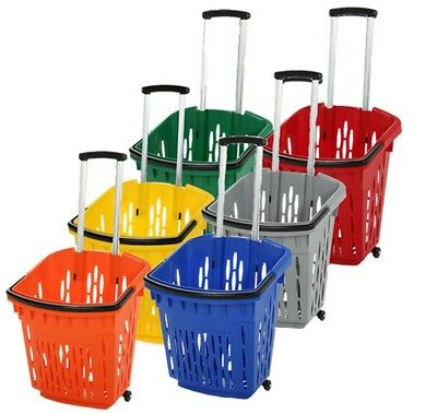 38L Shopping Basket with wheels, retail, shelving accessories