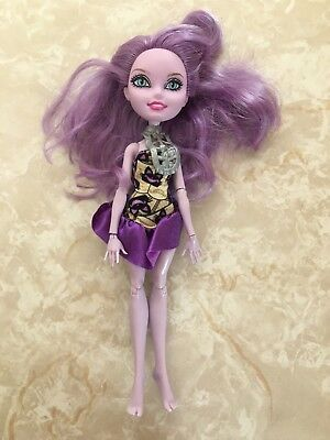 """Monster High 11"""" Doll EVER AFTER KITTY CHESHIRE CAT BOOK PARTY"""