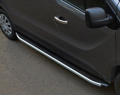 Aluminium Side Steps Bars Running Boards To Fit LWB Renault Trafic (2014+)