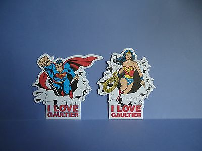 "Jean-Paul Gaultier - 2 Cartes ""le Male-Classique-I Love Gaultier"" Superman Wonde"