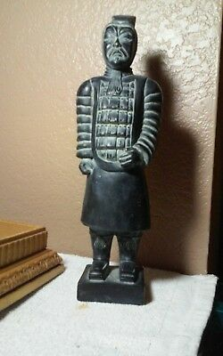 """Interesting, ceramic? Asian,possible Japanese bout 12"""" tall figure sculpture"""