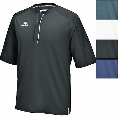 adidas Men's Climalite Modern Varsity Short Sleeve 1/4 Zip Athletic Pullover Tee