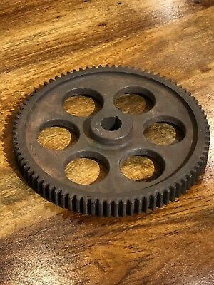 Vintage Cast Iron Metal Industrial 6 Hole Gear/Sprocket - Steampunk Decor