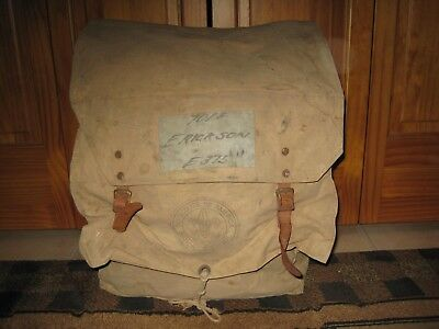 Vintage BOY SCOUTS Official Canvas YUCCA Diamond Brand BACKPACK