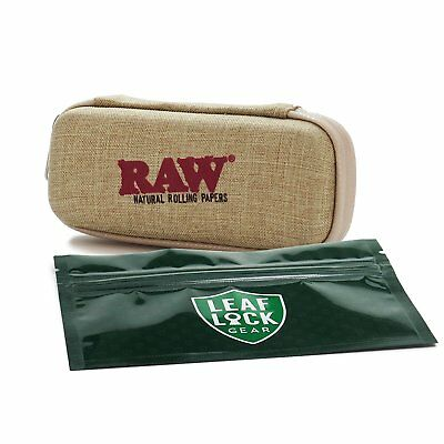 RAW Pre-Roll Wallet with Leaf Lock Gear Smell Proof Tobacco Pouch