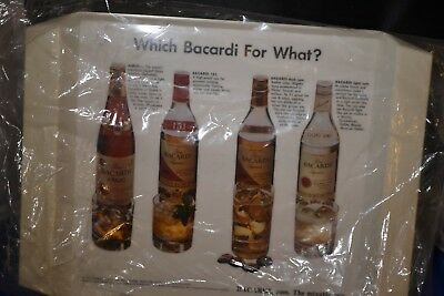 1972 Bacardi Plastic Serving Tray New