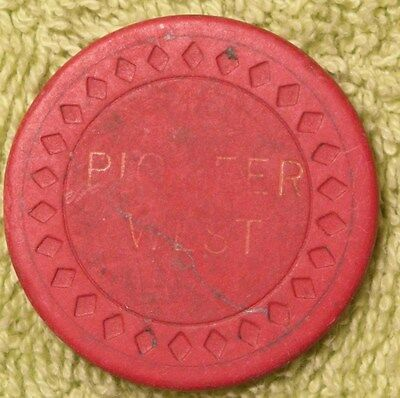 Pioneer West poker chip 25 cents Washington