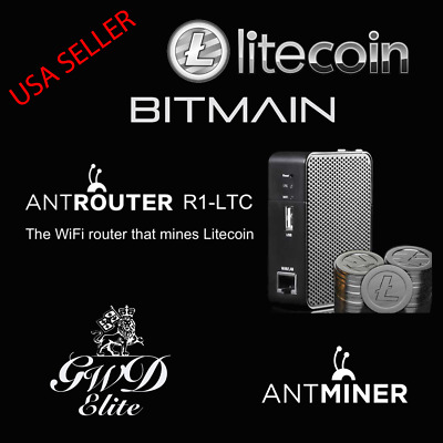New Antminer AntRouter R1-LTC Litecoin Miner WiFi Router Bitmain Ships Same Day