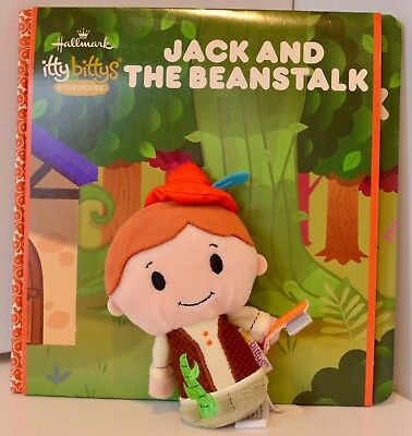 Hallmark Keepsake  itty bittys Story Books Jack and The Beanstalk Plush Toy NEW