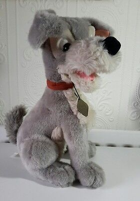 """Vintage 1990s Disney Store Lady and the Tramp """"Tramp"""" dog soft toy plush"""
