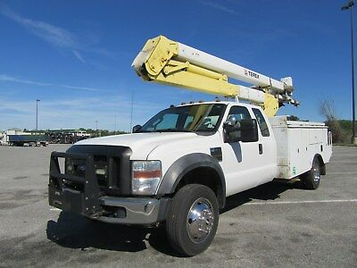 2010 Ford F-550 4X4 45' Material Handling Boom Bucket Truck V-10 Utility Service