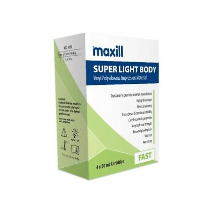 maxill Super Light Body VPS Impression Material 4x50ml cartridges
