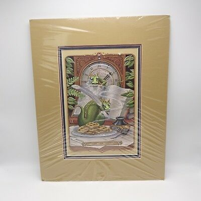 Randal Spangler Draglings Dragons Print Stop Smell the Cookies Signed 266 of 650