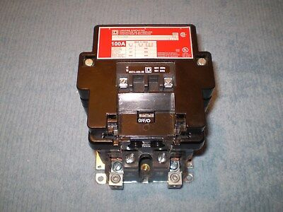 Square D 8903 SQ Lighting Contactor 100 Amp 600 Volt 120v Coil 8903SQ01