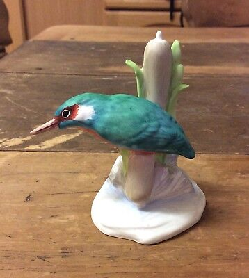 Stunning Crown Staffordshire Fine Bone China Kingfisher Figurine Model #291
