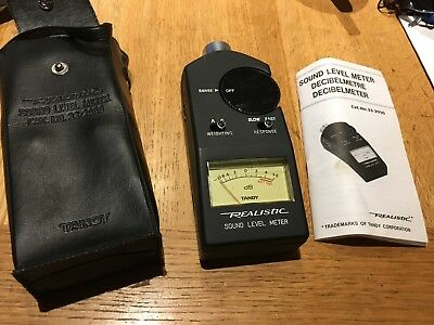 Realistic Sound Level Meter 33-2050