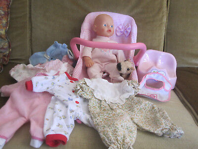 Zapf Creations My First Baby Born doll with hard carrier, ipotty, 7 outfits